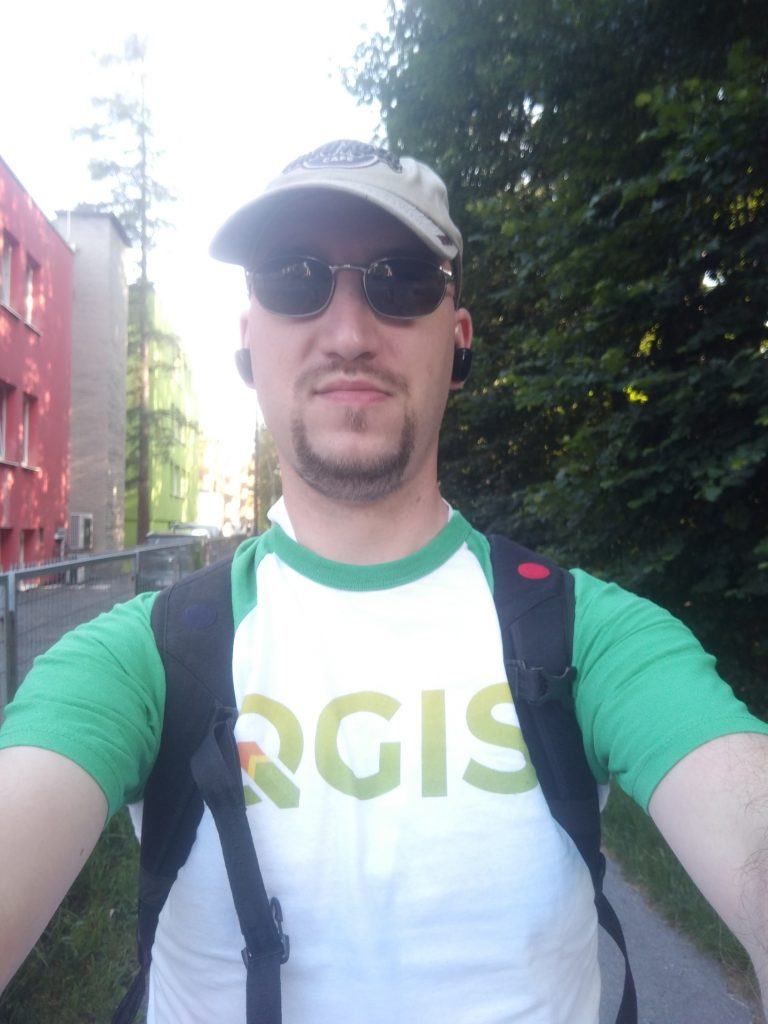 Andreas auf dem Weg zur AGIT