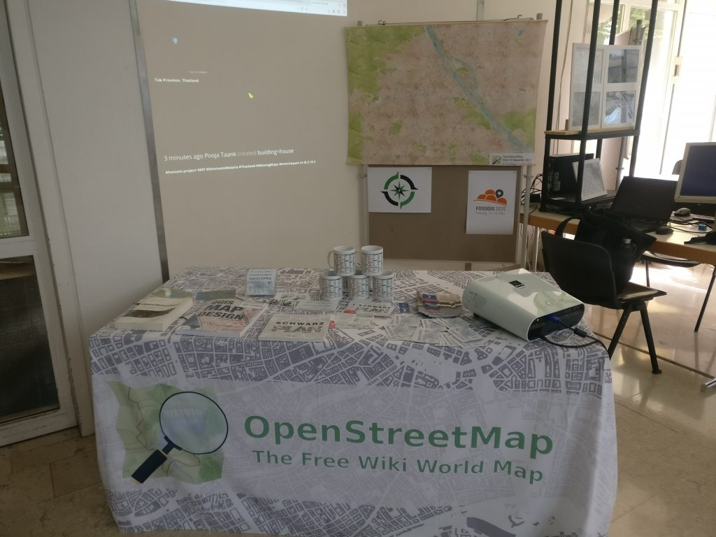 OSM & OSGeo Stand am letzten Tag