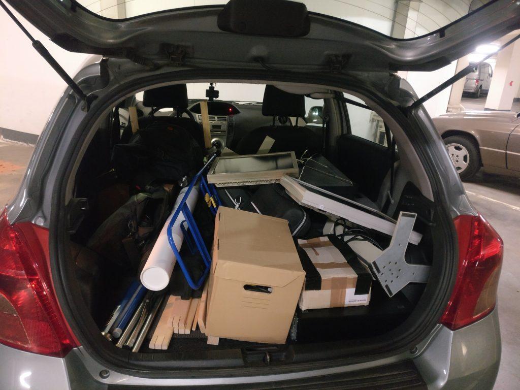 Material im Auto