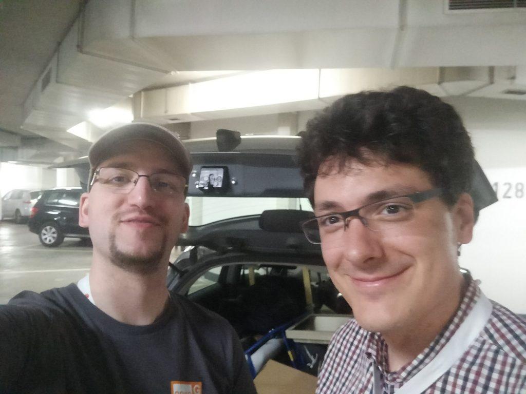 Markus & Andi beim Auto